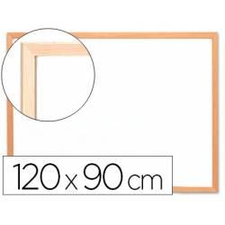 Pizarra Blanca laminada marco de madera 120x80 Q-Connect