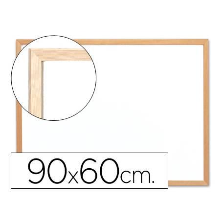 Pizarra Blanca laminada marco de madera 90x60 Q-Connect