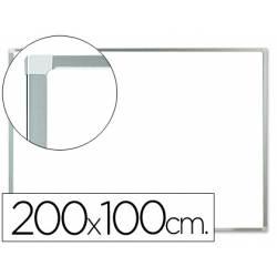 Pizarra Blanca laminada marco de aluminio 200x100 Q-Connect