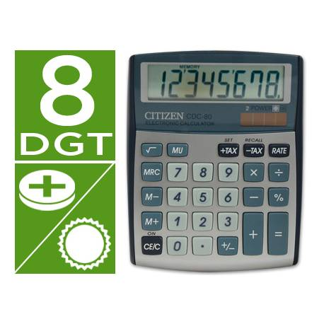 Calculadora Sobremesa Citizen CDC-80 8 digitos