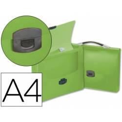 Cartera portadocumentos Beautone Broche verde