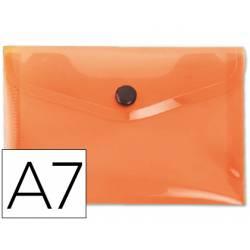 Carpeta sobre Liderpapel broche naranja Din A7