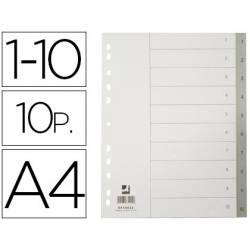 Separadores de plastico Q-Connect numericos multitaladro 1-10 A4