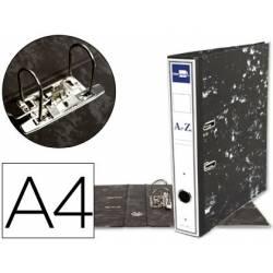 Archivador de Palanca Liderpapel Carton Forrado DIN A4 Lomo 75 mm Negro Jaspeado