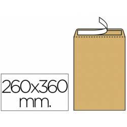 Sobres bolsa kraft N.12 Liderpapel, 260x360mm