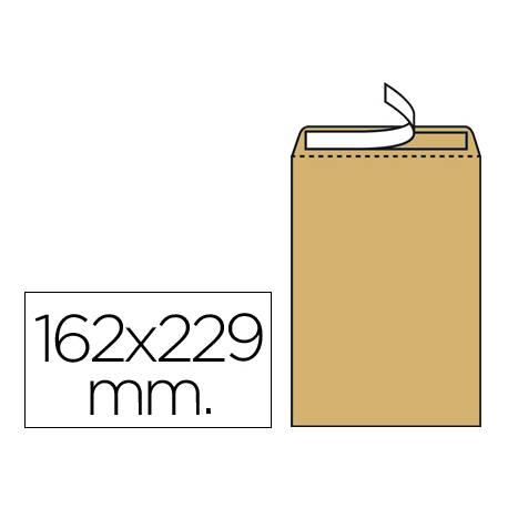 Sobres bolsa kraft N.5 Liderpapel, 162x229mm