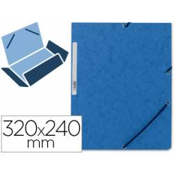Carpetas de gomas carton prespan Q-Connect Din A4 azul