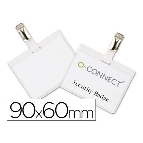 Identificadores Q-Connect de Seguridad Pinza Metalica en PVC 9x6 cm