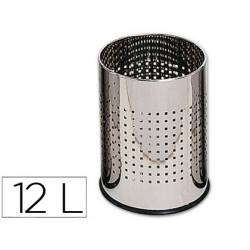 Papelera metalica cromada 12 L