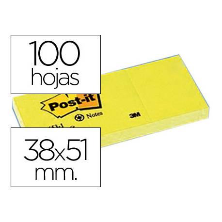 Post-it ® Bloc quita y pon color amarillo 38x51mm