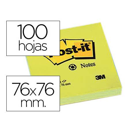 Post-it ® Bloc quita y pon color amarillo