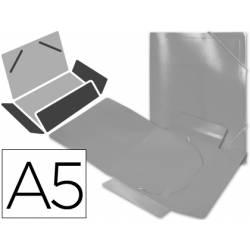 Carpeta lomo flexible gomas con solapas Liderpapel Din A5 transparente