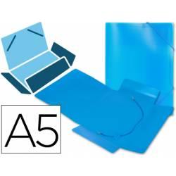 Carpeta lomo flexible gomas con solapas Liderpapel Din A5 azul