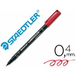 Rotulador Retroproyección Permanente Staedtler Lumocolor 313 Rojo Punta Superfina Redonda