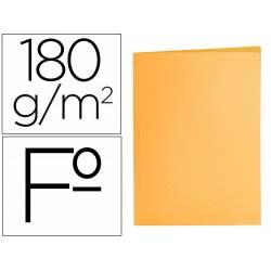 Subcarpeta cartulina folio Liderpapel naranja