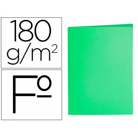 Subcarpeta cartulina folio Liderpapel verde