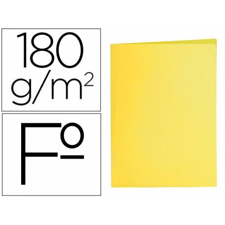 Subcarpeta cartulina folio Liderpapel amarillo