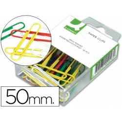 Clips colores Nº 3 Q-Connect 50 mm