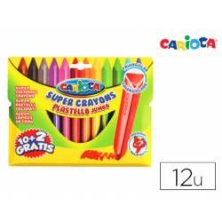 Lapices de cera Carioca Jumbo caja de 12 colores surtidos