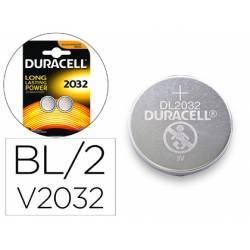 Pila alcalina boton marca Duracell CR2032 Blister 2 unidades