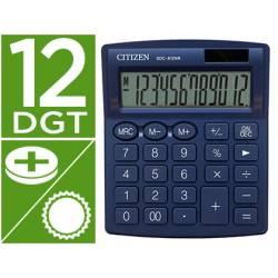 Calculadora sobremesa Citizen SDC-812 NRNVE Eco 12 digitos Azul