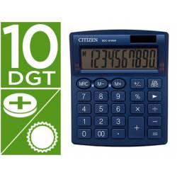 Calculadora sobremesa Citizen SDC-810 NRGNE 10 dígitos Azul