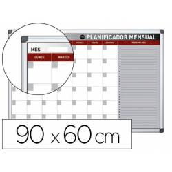 Planning Mensual Rotulable Magnetico 90x60 cm marca Bi-Office
