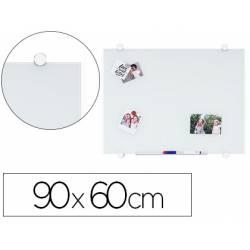 Pizarra Blanca Q-Connect Cristal Magnetica marco de aluminio 90x60 cm