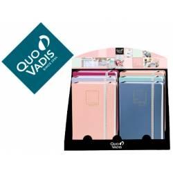 Expositor 20 Libretas marca Quo Vadis Life Journal Infinite Dots 150x210 mm Puntos Tapa Similpiel