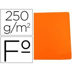 Subcarpeta Gio Folio 250 gr Cartulina naranja