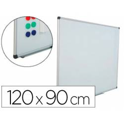 Pizarra Blanca Rocada Acero Vitrificado Magnética Marco aluminio 120x90 cm