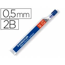 Minas Staedtler Mars Micro 0,5 mm 2B grafito Tubo 12 unidades