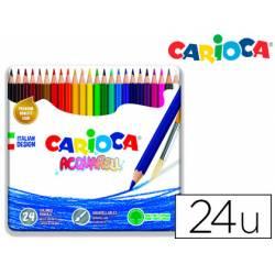 Lapices de colores Carioca Acuarelable Caja Metalica 24 colores