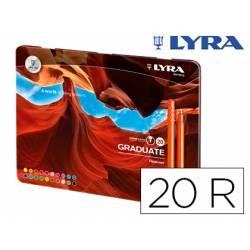 Rotulador Lyra Graduate Fineliner Caja Metálica 20 Colores Surtidos