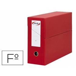 Archivador con tapa Pardo Folio Rojo 390x270x115 mm