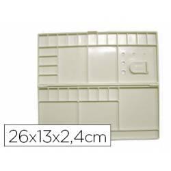 Paleta Plástico Artist Rectangular 26x13x2,4 cm