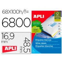 Etiquetas adhesivas Apli 01282 tamaño 48,5x16,9 mm caja de 100h