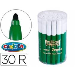 Rotulador Carioca Jumbo grueso caja de 30 rotuladores verdes