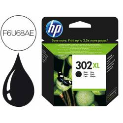 Cartucho HP 302XL negro F6U68AE