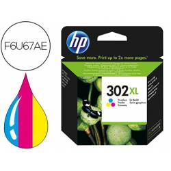 Cartucho HP 302XL Tricolor F6U67AE