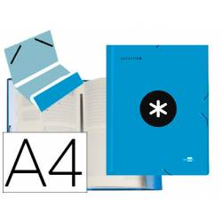 Carpeta Liderpapel Antartik Clasificadora Folio 12 departamentos Cartón forrado Azul