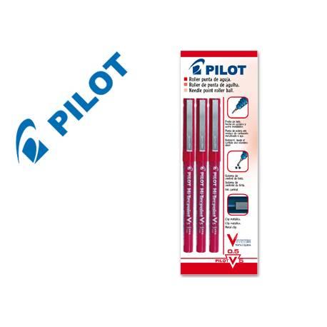 Rotulador Pilot V-5 rojo