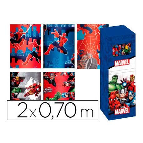 Papel fantasia infantil Marvel Rollo de 2X0,70 mt