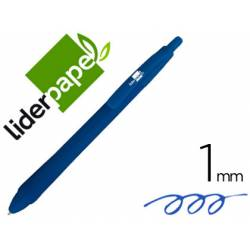 Boligrafo Liderpapel Gummy Touch 1 mm Color Azul