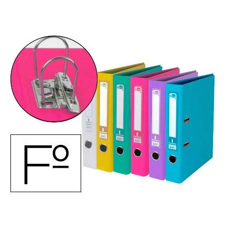 Archivador de palanca Liderpapel Documenta Folio Lomo 75 mm colores Surtidos Trending