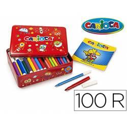 Rotulador Carioca caja metalica 100 unidades