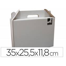 Caja Maletín Cartón Q-connect para Embalar 35x25,5x11,8 cm con Asa
