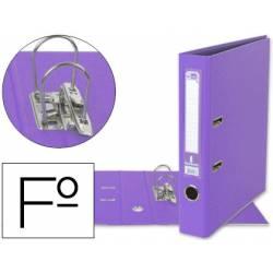 Archivador de palanca Liderpapel folio color lila compresor