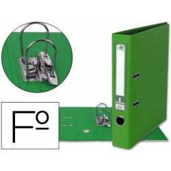 Archivador de palanca Liderpapel folio color verde compresor