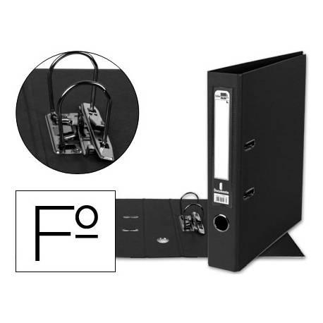 Archivador de palanca Liderpapel folio negro compresor metalico